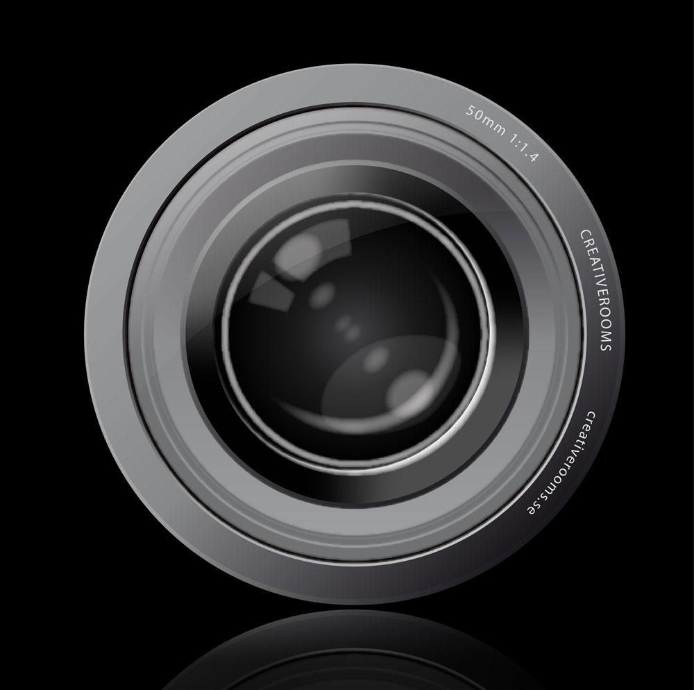 vector graphics camera lens